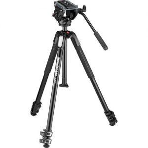 Tripode De Video Manfrotto MT190X3 Con Cabezal MVH500AH